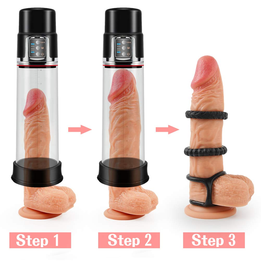 rechargeable automatic penis vacuum pump
