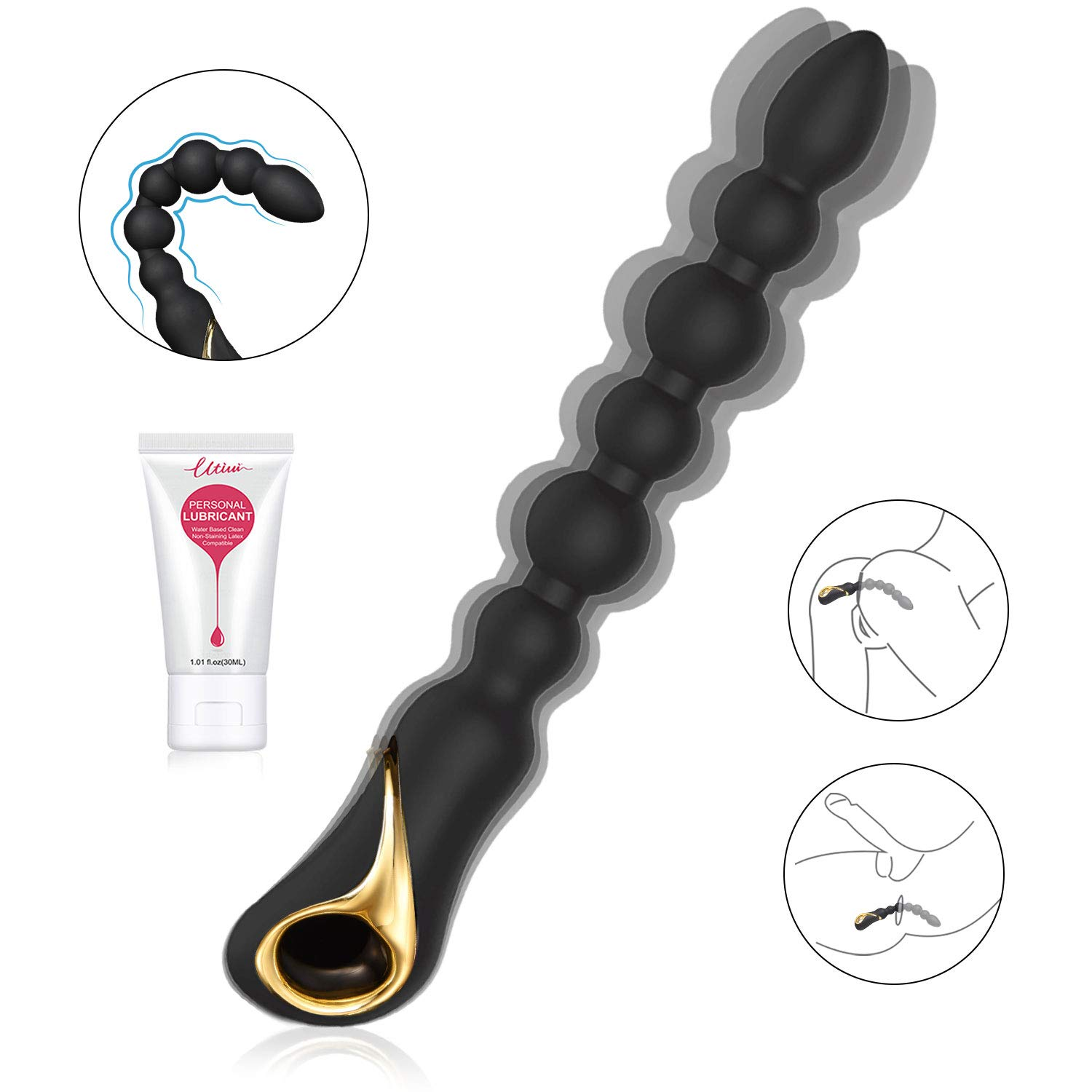 Utimi Anal Vibrating Beads (Best Silicone Anal Lead)